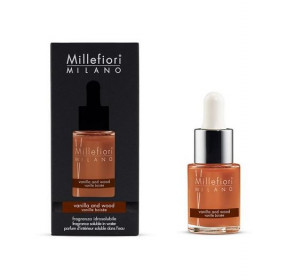 Aromatický olej, Millefiori Natural, Vanilla & Wood, 15 ml