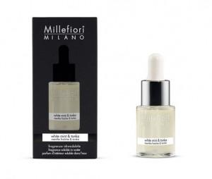 Aromatický olej, Millefiori Natural, White Mint & Tonka, 15 ml