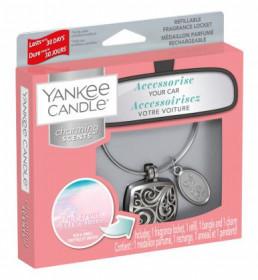 Aromatický přívěsek do auta, Yankee Candle Charming Scents Square Pink Sands
