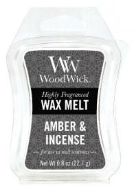 Aromatický vosk, WoodWick Amber & Incense, provonění minimálně 8 hod