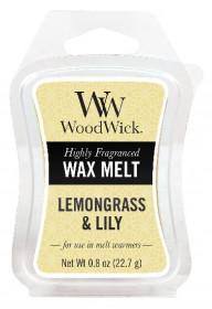 Aromatický vosk, WoodWick Lemongrass & Lily, provonění minimálně 8 hod