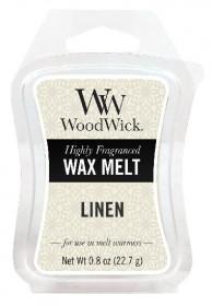 Aromatický vosk, WoodWick Linen, provonění minimálně 8 hod