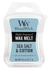 Aromatický vosk, WoodWick Sea Salt & Cotton, provonění minimálně 8 hod
