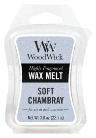 Aromatický vosk, WoodWick Soft Chambray, provonění minimálně 8 hod