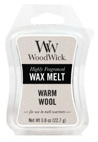 Aromatický vosk, WoodWick Warm Wool, provonění minimálně 8 hod