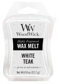Aromatický vosk, WoodWick White Teak, provonění minimálně 8 hod