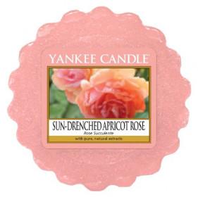 Aromatický vosk, Yankee Candle Sun-Drenched Apricot Rose, provonění až 8 hod