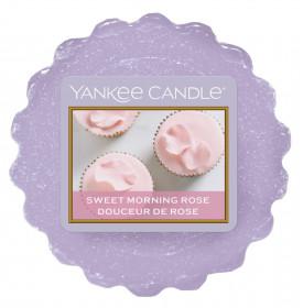 Aromatický vosk, Yankee Candle Sweet Morning Rose, provonění až 8 hod