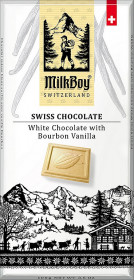 Bílá čokoláda, Milkboy Switzerland White Chocolate with Bourbon Vanilla, 100 g