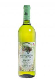 Bílé suché víno, Vinařství Josef Valihrach Veltlínské zelené pozdní sběr 2016, 13% obj., 0.75 l