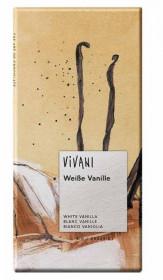 BIO bílá čokoláda s Bourbon vanilkou, Vivani, 80 g