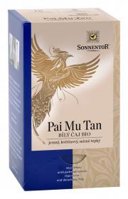 BIO bílý čaj, Sonnentor Pai Mu Tan, porcovaný, 18 sáčků