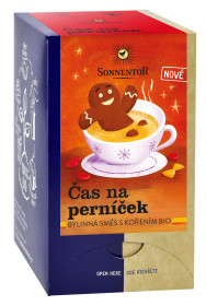 BIO bylinný čaj s kořením, Sonnentor Čas na perníček, porcovaný, 18 sáčků