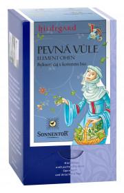 BIO bylinný čaj s kořením, Sonnentor Hildegarda - Pevná vůle, porcovaný, 18 sáčků