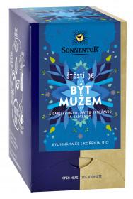 BIO bylinný čaj s kořením, Sonnentor Štěstí je - Být mužem, porcovaný, 18 sáčků