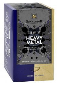 BIO bylinný čaj s kořením, Sonnentor Štěstí je - Heavy Metal, porcovaný, 18 sáčků