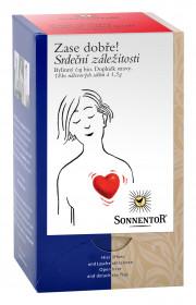 BIO bylinný čaj s maté, Sonnentor Zase dobře - Srdeční záležitosti, porcovaný, 18 sáčků