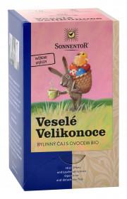 BIO bylinný čaj s ovocem, Sonnentor Veselé Velikonoce, porcovaný, 18 sáčků