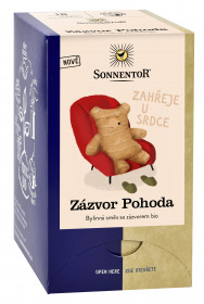 BIO bylinný čaj se zázvorem, Sonnentor Zázvor Pohoda, porcovaný, 18 sáčků