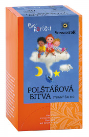 BIO bylinný čaj, Sonnentor Bio Rarášci - Polštářová bitva, porcovaný, 20 sáčků