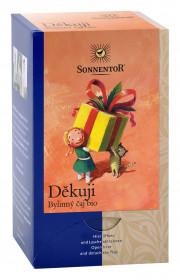BIO bylinný čaj, Sonnentor Děkuji, porcovaný, 18 sáčků