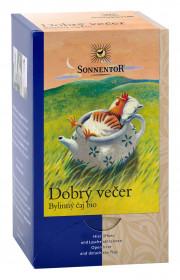 BIO bylinný čaj, Sonnentor Dobrý večer, porcovaný, 18 sáčků