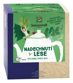 BIO bylinný čaj, Sonnentor Nadechnutí v lese, porcovaný, 12 pyramidálních sáčků