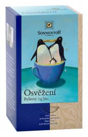 BIO bylinný čaj, Sonnentor Osvěžení, porcovaný, 18 sáčků