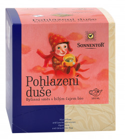 BIO bylinný čaj, Sonnentor Pohlazení duše, obsahuje kofein, porcovaný, 12 pyramidálních sáčků