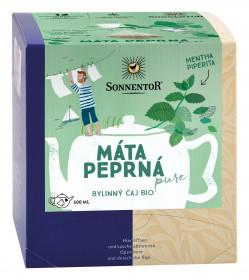 BIO bylinný čaj, Sonnentor Pure - Máta peprná, porcovaný, 12 pyramidálních sáčků