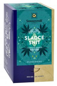 BIO bylinný čaj, Sonnentor Štěstí je - Sladce snít, porcovaný, 18 sáčků