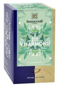 BIO bylinný čaj, Sonnentor Štěstí je - Žít v harmonii, porcovaný, 18 sáčků