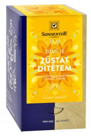 BIO bylinný čaj, Sonnentor Štěstí je - Zůstat dítětem, porcovaný, 18 sáčků