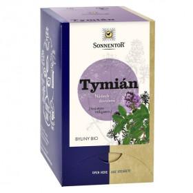 BIO bylinný čaj, Sonnentor Tymián, Thymus vulgaris, porcovaný, 18 sáčků