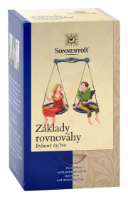 BIO bylinný čaj, Sonnentor Základy rovnováhy, porcovaný, 18 sáčků