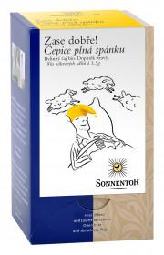 BIO bylinný čaj, Sonnentor Zase dobře - Čepice plná spánku, porcovaný, 18 sáčků