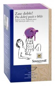BIO bylinný čaj, Sonnentor Zase dobře  - Pro dobrý pocit v břiše, porcovaný, 18 sáčků
