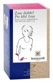 BIO bylinný čaj, Sonnentor Zase dobře - Pro klid ženy, porcovaný, 18 sáčků