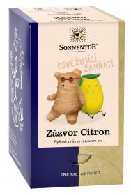BIO bylinný čaj, Sonnentor Zázvor Citron, porcovaný, 18 sáčků