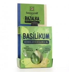 BIO éterický olej, Sonnentor Bazalka, pro kulinářské účely, 4.5 ml