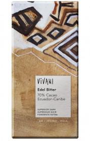 BIO hořká čokoláda 70%, Vivani, 100 g