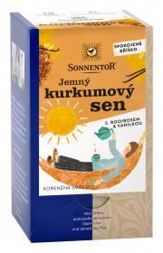 BIO kořeněný čaj, Sonnentor Jemný kurkumový sen s rooibosem, porcovaný, 18 sáčků