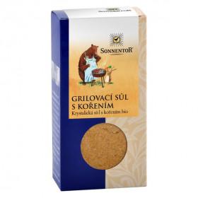 BIO krystalická sůl s kořením, Sonnentor Grilovací sůl s kořením, krabička, 100 g