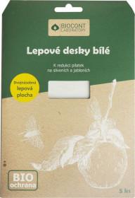 Bio lepové desky na ŠVESTKY a JABLONĚ, Biocont, bílé, balení 5 ks