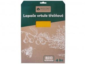 Bio lepové desky na TŘEŠNĚ, Biocont, žluté, balení 4 ks