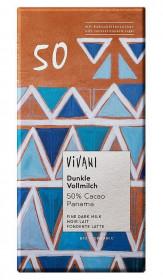 BIO mléčná čokoláda 50% s kokosovým cukrem, Vivani, 80 g
