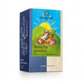 BIO ovocný čaj s bylinkami, Sonnentor Sluneční pozdrav, porcovaný, 18 sáčků