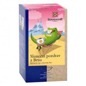 BIO ovocný čaj s bylinkami, Sonnentor Sluneční pozdrav z Brna, porcovaný, 18 sáčků