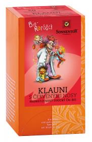 BIO ovocný čaj, Sonnentor Bio Rarášci - Klauni s červenými nosy, porcovaný, 20 sáčků