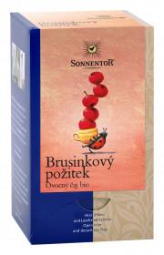 BIO ovocný čaj, Sonnentor Brusinkový požitek, porcovaný, 18 sáčků